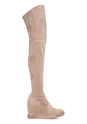 100mm Stretch Suede Over-the-knee Boots