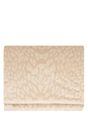Monogram Cotton Velvet Throw