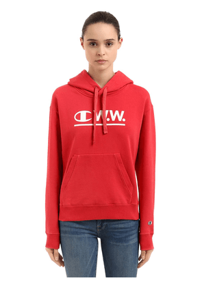 Wood Wood Logo Hooded Cotton Sweatshirt