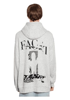 Oversize Hooded Cotton Jersey Sweatshirt