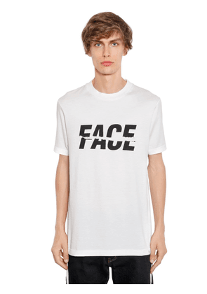 Face Printed Cotton Jersey T-shirt