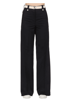 Cotton Bull Wide Leg Pants
