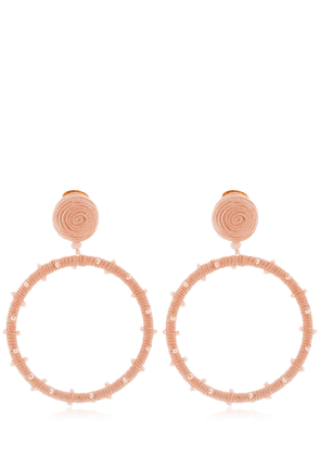 Dotted Beaded Hoop Earrings
