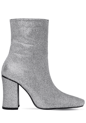 90mm Glitter Fabric Ankle Boots