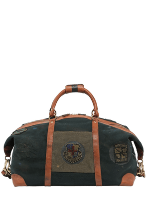 Cavalier Ii Leather Duffle Bag W/ Patch