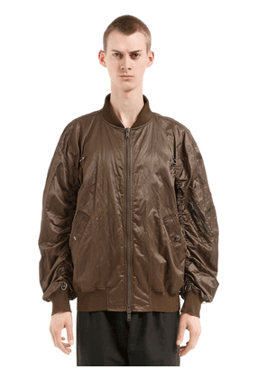 Oversize Zip-up Nylon Bomber Jacket