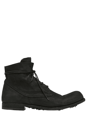 Washed Horse Leather Lace-up Boots
