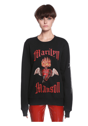 Marilyn Manson Heart Cotton Sweatshirt