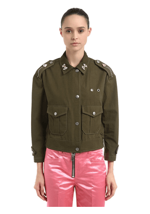 Embellished Cotton Field Jacket