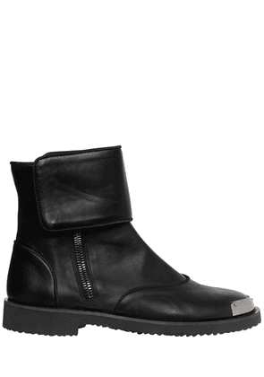 Smooth Leather Boots W/ Metal Toe