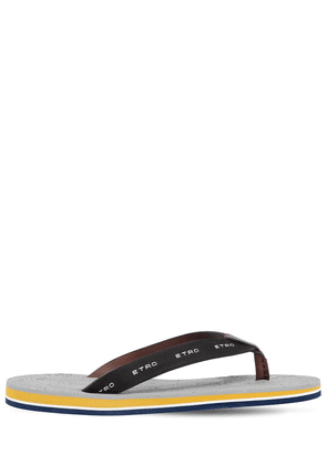 Leather Flip Flops W/ Paisley Insole