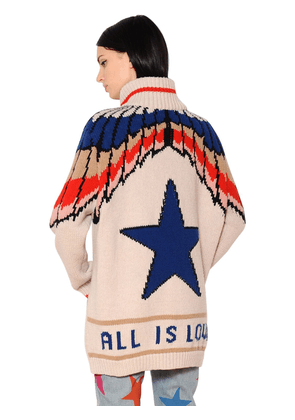 All Is Love Intarsia Wool Cardigan