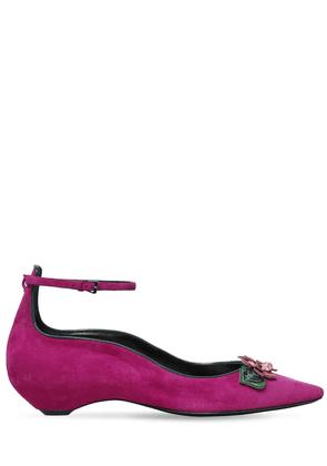 30mm Be My Valentine Suede Flats
