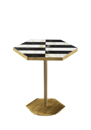 Ted Marble Inlay Accent Table