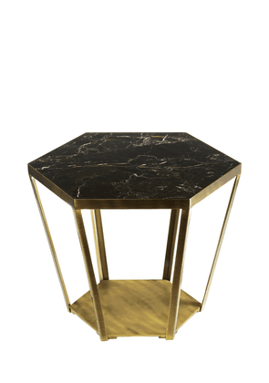 Ray Marble & Brass Accent Table