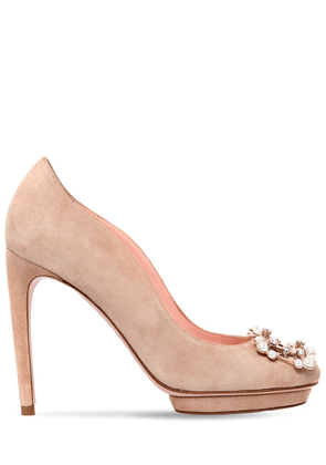 105mm Dita Suede Pumps