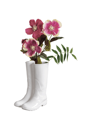 Rainboots Porcelain Vase /umbrella Stand