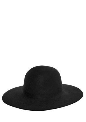 Rabbit Fur Felt Brimmed Hat