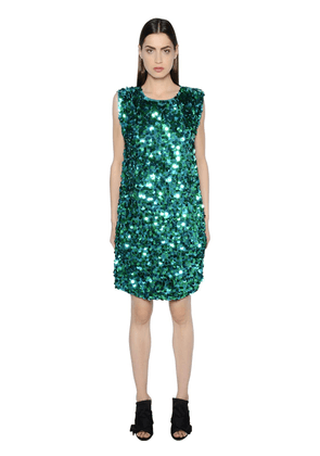 Sequined Crepe Dress