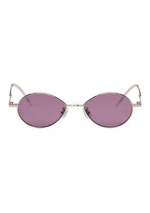 Gentle Monster Silver and Purple Cobalt Sunglasses