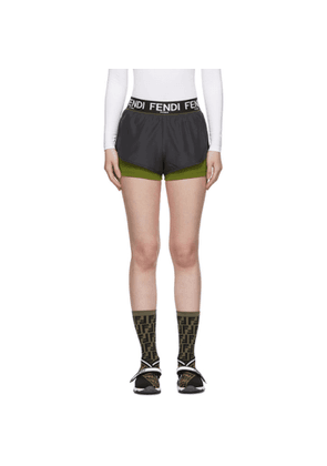 Fendi Grey and Green Underlay Shorts
