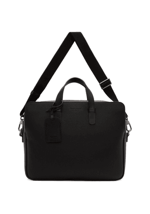 Giorgio Armani Black Large Two Day Briefcase