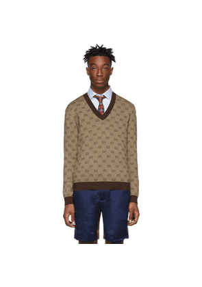 Gucci Brown GG Sweater