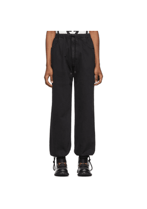 Gucci Black Washed Cotton Jogging Jeans