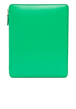 Comme Des Garcons Classic iPad Case in Green - Green. Size all.