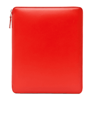 Comme Des Garcons Luxury Leather iPad Case in Orange - Orange. Size all.