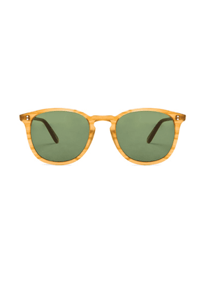 Garrett Leight Kinney in Butterscotch & Pure Green - Yellow,Green. Size all.