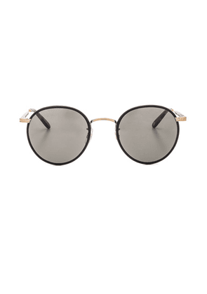 Garrett Leight Wilson 49 in Black Matt Spotted Tortoise & Pure Grey - Black. Size all.