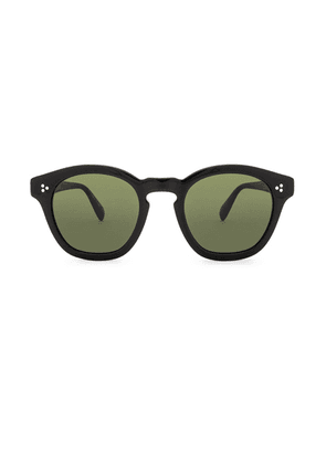 Oliver Peoples Boudreau LA in Black & Green - Black. Size all.