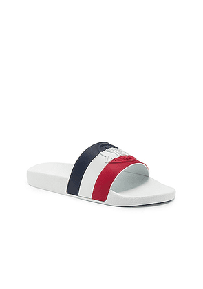 Moncler Sandal in Red & White & Blue - Blue,Stripes,Red,White. Size 44 (also in ).