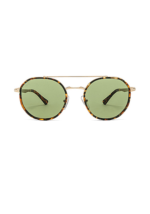 Persol PO2456S in Gold & Green - Green. Size all.