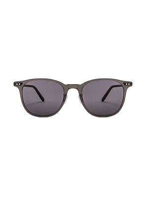 Garrett Leight Beach 49 in Matte Grey Crystal & Brushed Silver & Black - Black. Size all.
