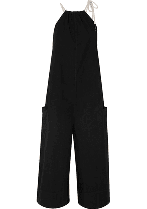 Bassike - + Net Sustain Cotton-poplin Jumpsuit - Black