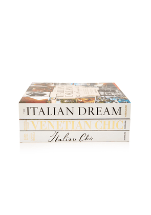 Assouline Italian Chic, Italian Dream And Venetian Chic Hardcover Book