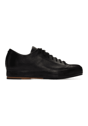 Feit Black Hand-Sewn Rubber Low Sneakers
