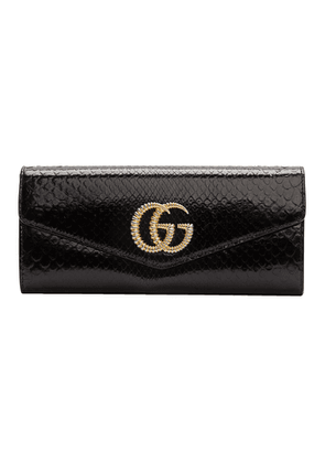 Gucci Black Snake GG Broadway Clutch