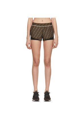 Fendi Brown and Black Forever Fendi Track Shorts