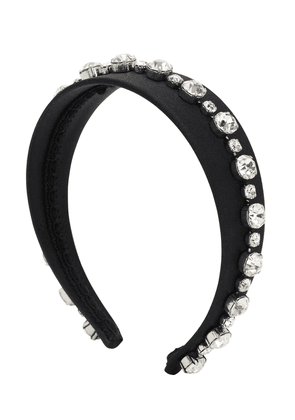 Victoria Satin Silk Headband W/crystals