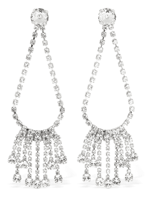 Clara Drop Fringed Crystal Earrings