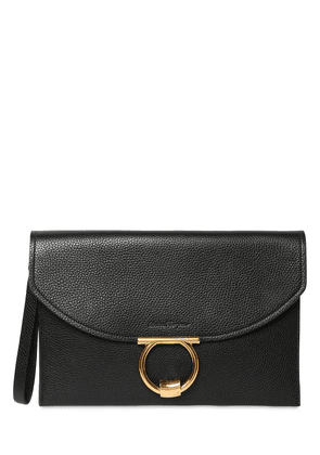 Small Grained Leather Clutch