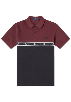 Fred Perry Chest Logo Taped Polo