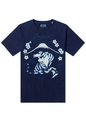Blue Blue Japan Bassen Sakura Mt. Fuji Tiger Tee