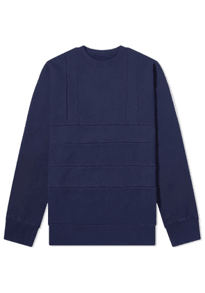 Blue Blue Japan Panel Crew Neck Sweat