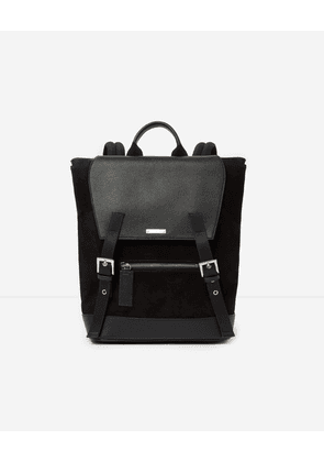 The Kooples - graphic dual-material backpack zayn by the kooples - black