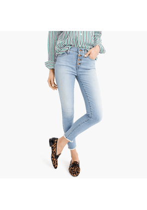"""Tall eco 9"""" high-rise toothpick jean in light worn wash"""