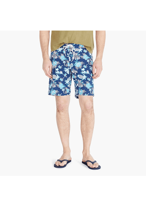 9' stretch eco board short in pineapple print